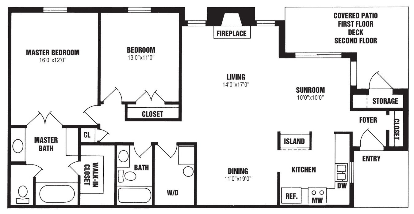 2 Bedrooms 2 Bathrooms Apartment for rent at The Willows in Louisville, KY