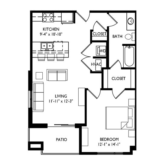 1 Bedroom 1 Bathroom Apartment for rent at Capitol's Edge Apartments in Madison, WI