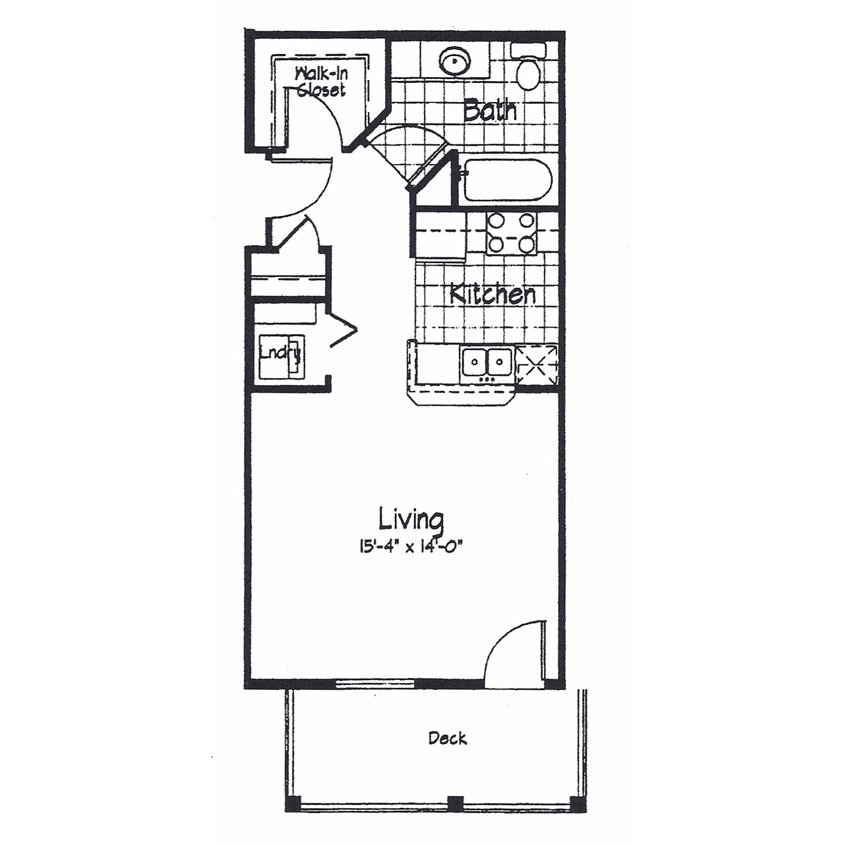 Studio 1 Bathroom Apartment for rent at Cortland Pond in Madison, WI