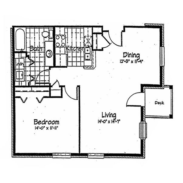 1 Bedroom 1 Bathroom Apartment for rent at Cortland Pond in Madison, WI