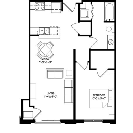 1 Bedroom 1 Bathroom Apartment for rent at Parman Place in Madison, WI