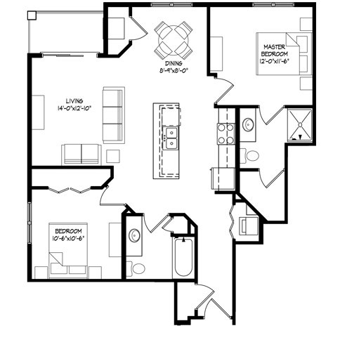 2 Bedrooms 2 Bathrooms Apartment for rent at Parman Place in Madison, WI