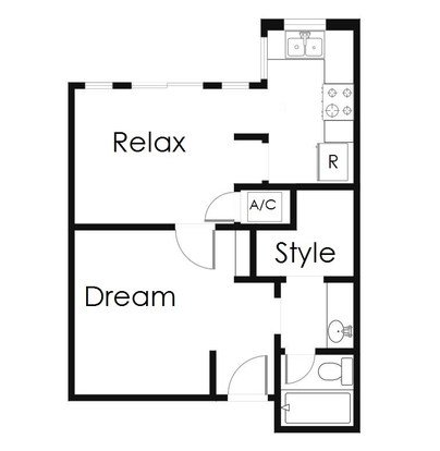 Studio 1 Bathroom Apartment for rent at Mesh Properties in Austin, TX