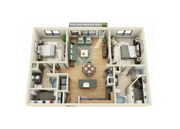 2 Bedrooms 2 Bathrooms Apartment for rent at The Beverly At Medical Center in Austin, TX