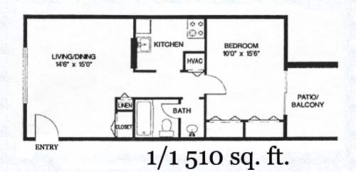 1 Bedroom 1 Bathroom Apartment for rent at The Collection At Riverside in Austin, TX
