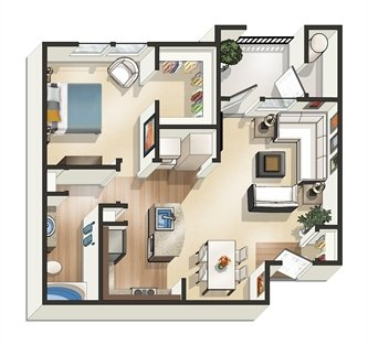 1 Bedroom 1 Bathroom Apartment for rent at Legacy At Southpark in Austin, TX