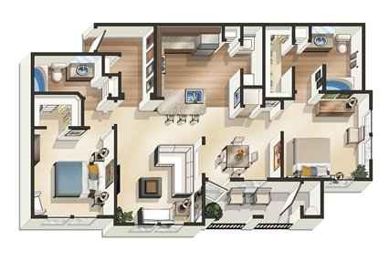 2 Bedrooms 2 Bathrooms Apartment for rent at Legacy At Southpark in Austin, TX