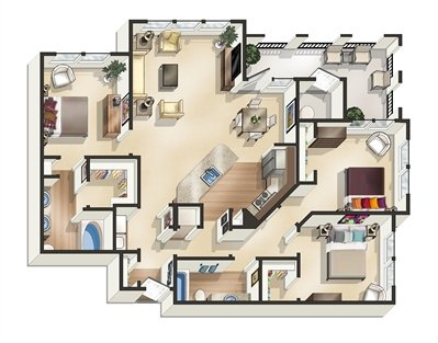 3 Bedrooms 2 Bathrooms Apartment for rent at Legacy At Southpark in Austin, TX