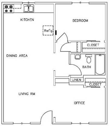 1 Bedroom 1 Bathroom Apartment for rent at Tambaleo 2311 in Austin, TX