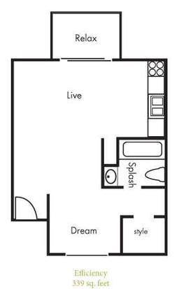 Studio 1 Bathroom Apartment for rent at Timbercreek Apartments in Austin, TX