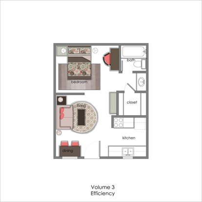 Studio 1 Bathroom Apartment for rent at Volume 3 in Austin, TX