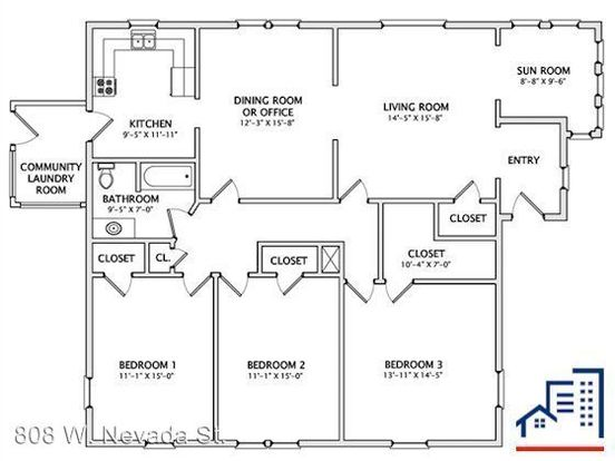 3 Bedrooms 1 Bathroom Apartment for rent at 808 W. Nevada St. in Urbana, IL