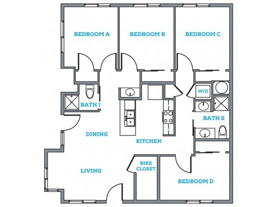 4 Bedrooms 2 Bathrooms Apartment for rent at The Anthony in Eugene, OR