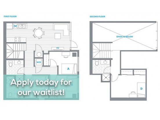 4 Bedrooms 3 Bathrooms Apartment for rent at Uncommon Apartments in Eugene, OR