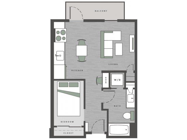 1 Bedroom 1 Bathroom Apartment for rent at 101 Center in Arlington, TX