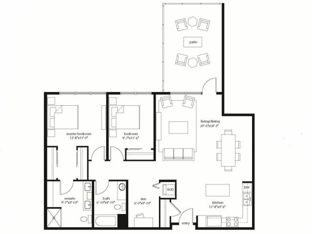 2 Bedrooms 2 Bathrooms Apartment for rent at Equinox in Seattle, WA