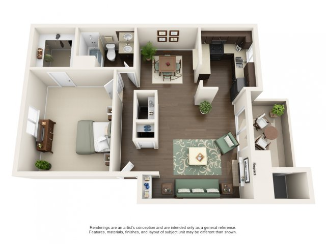 1 Bedroom 1 Bathroom Apartment for rent at The Cortesian Apartments in Scottsdale, AZ