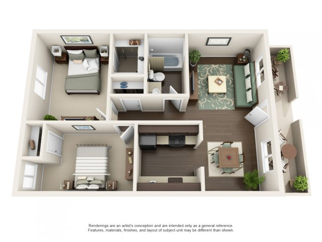 2 Bedrooms 1 Bathroom Apartment for rent at The Cortesian Apartments in Scottsdale, AZ