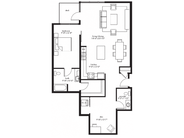 1 Bedroom 1 Bathroom Apartment for rent at Equinox in Seattle, WA