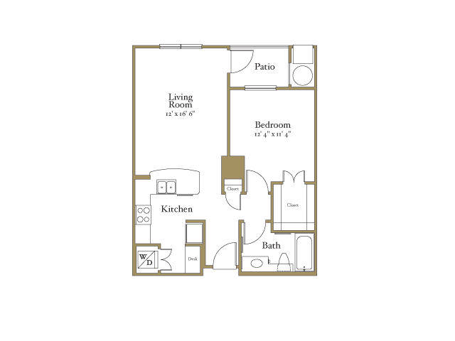 1 Bedroom 1 Bathroom Apartment for rent at Northcity 6 Apartments in Raleigh, NC