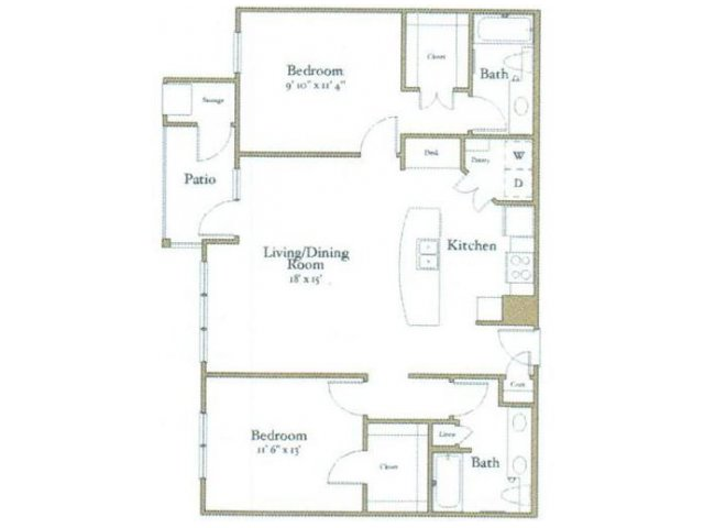 2 Bedrooms 2 Bathrooms Apartment for rent at Northcity 6 Apartments in Raleigh, NC