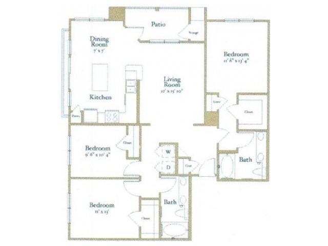 3 Bedrooms 2 Bathrooms Apartment for rent at Northcity 6 Apartments in Raleigh, NC