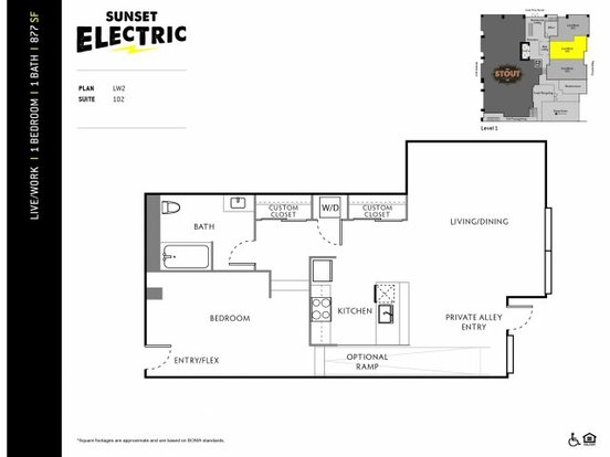 1 Bedroom 1 Bathroom Apartment for rent at Sunset Electric in Seattle, WA
