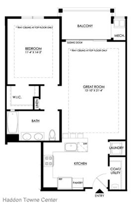 1 Bedroom 1 Bathroom Apartment for rent at 225 Haddon Avenue in Haddon, NJ