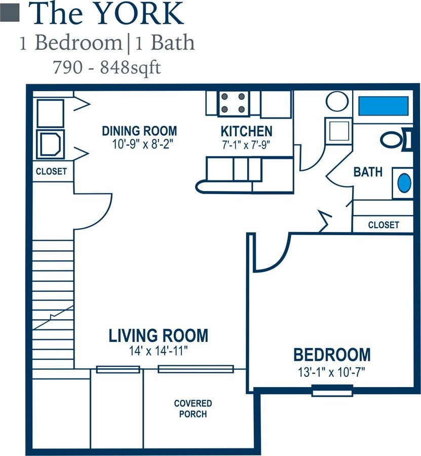1 Bedroom 1 Bathroom Apartment for rent at Remington Woods in Lewis Center, OH