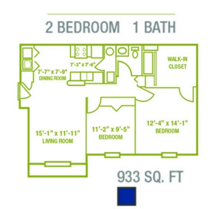 2 Bedrooms 1 Bathroom Apartment for rent at Madden's Pointe in Columbus, OH
