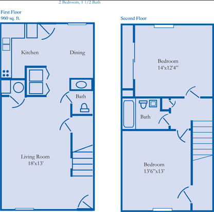 2 Bedrooms 2 Bathrooms Apartment for rent at Sawmill Ravine in Dublin, OH