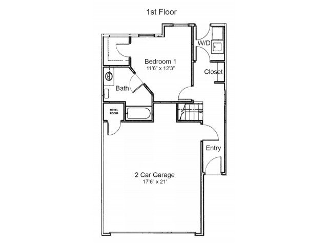 3 Bedrooms 2 Bathrooms Apartment for rent at Walnut Alley in Springfield, MO