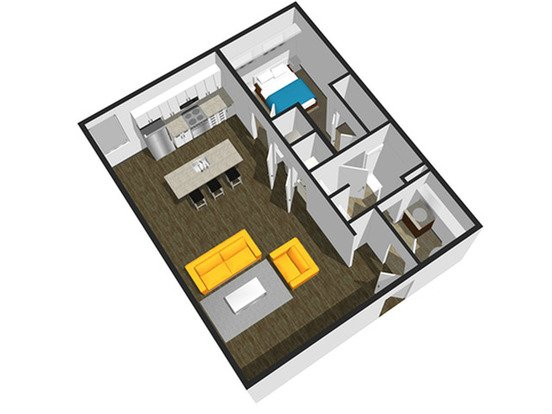 1 Bedroom 1 Bathroom Apartment for rent at Soel District Lofts in Springfield, MO