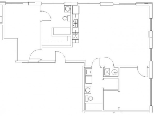2 Bedrooms 2 Bathrooms Apartment for rent at Wilhoit Plaza Lofts in Springfield, MO