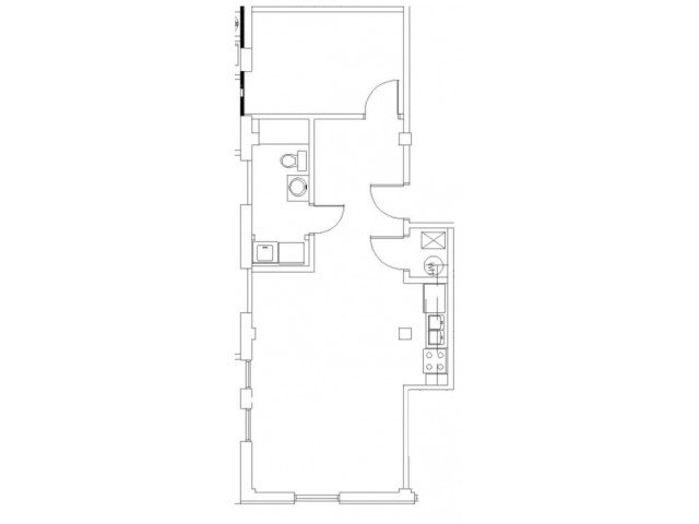 1 Bedroom 1 Bathroom Apartment for rent at Wilhoit Plaza Lofts in Springfield, MO