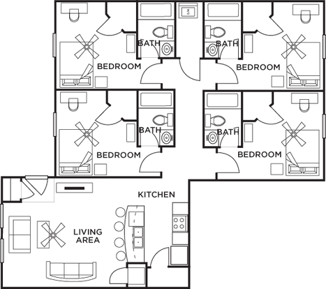 4 Bedrooms 4+ Bathrooms Apartment for rent at 5 Twenty Four & 5 Twenty Five Angliana in Lexington, KY