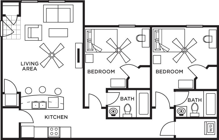 2 Bedrooms 2 Bathrooms Apartment for rent at 5 Twenty Four & 5 Twenty Five Angliana in Lexington, KY