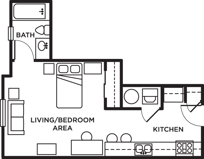 Studio 1 Bathroom Apartment for rent at Newtown Crossing in Lexington, KY