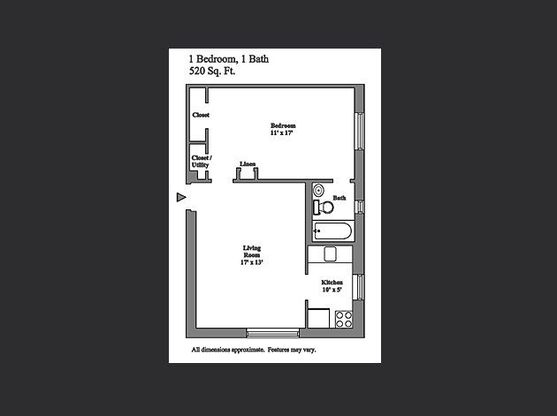 1 Bedroom 1 Bathroom Apartment for rent at Fenwyck Apartments in Pittsburgh, PA