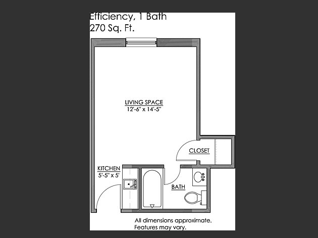 Studio 1 Bathroom Apartment for rent at Craig Manor Apartments in Pittsburgh, PA