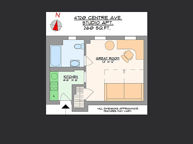Studio 1 Bathroom Apartment for rent at Centre Court Apartments in Pittsburgh, PA