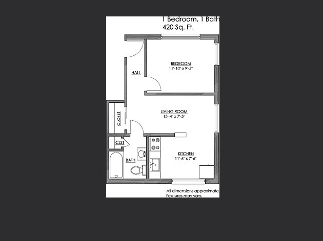 1 Bedroom 1 Bathroom Apartment for rent at Neville Commons in Pittsburgh, PA