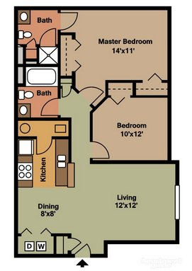 2 Bedrooms 2 Bathrooms Apartment for rent at Gateway Lakes in Grove City, OH