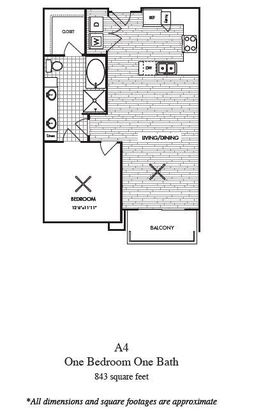 1 Bedroom 1 Bathroom Apartment for rent at Millennium Rainey in Austin, TX