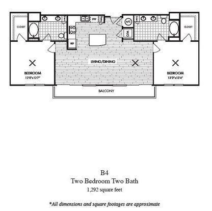 2 Bedrooms 2 Bathrooms Apartment for rent at Millennium Rainey in Austin, TX