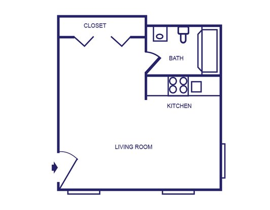 Studio 1 Bathroom Apartment for rent at Launch Social Living in West Lafayette, IN