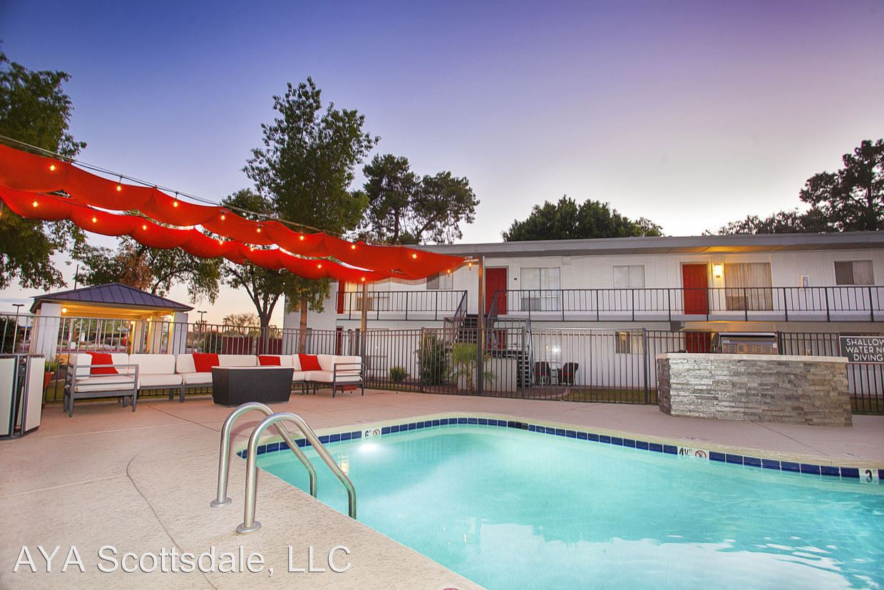 2 Bedrooms 1 Bathroom Apartment for rent at 8750 E Mcdowell Rd in Scottsdale, AZ