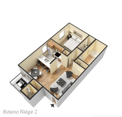 Studio 1 Bathroom Apartment for rent at 3221 W. El Camino Dr. in Phoenix, AZ