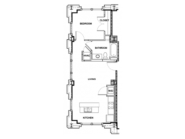 1 Bedroom 1 Bathroom Apartment for rent at Hibernia Tower in New Orleans, LA
