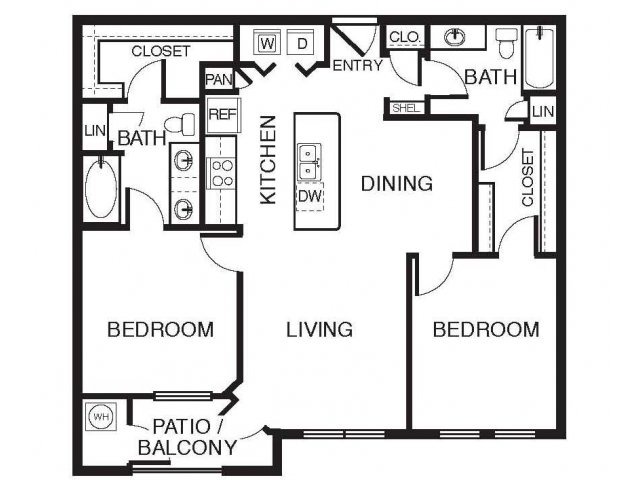2 Bedrooms 2 Bathrooms Apartment for rent at Lugano At Cherry Creek in Aurora, CO